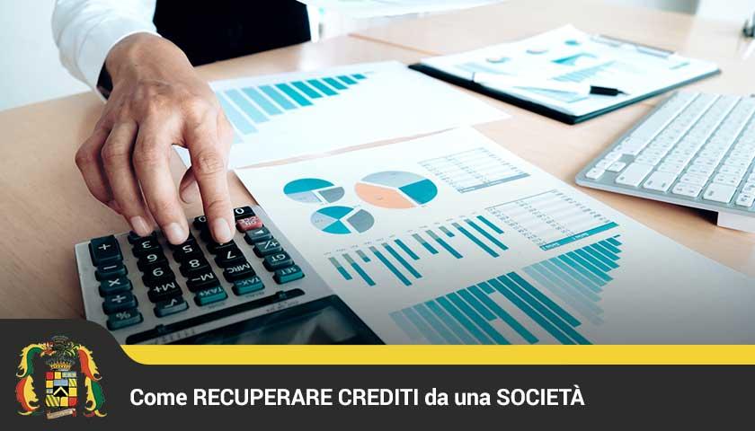 recuperare crediti da società